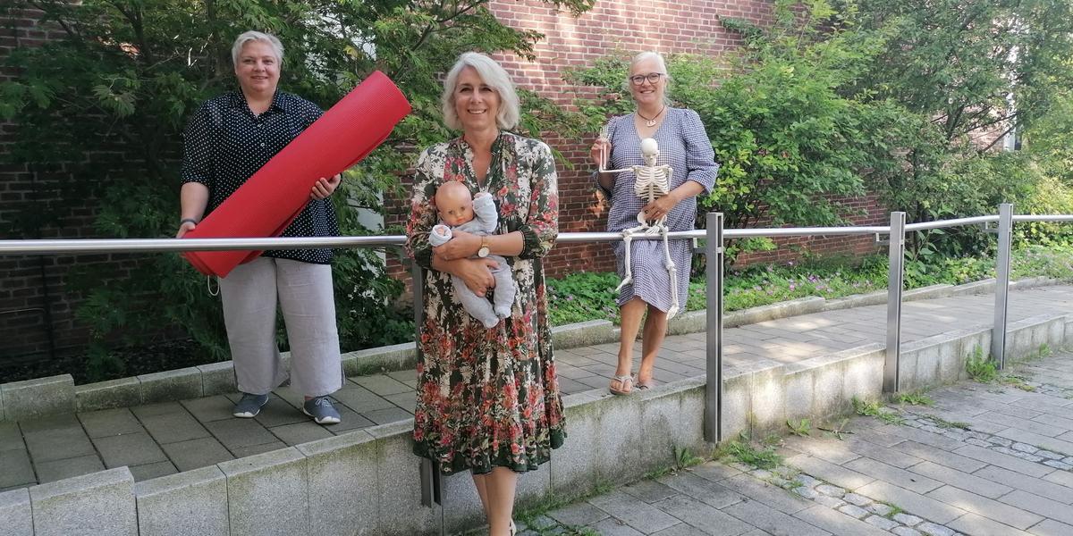 von links nach rechts: das Team von der ev. Familienbildung - Ulrike Haeusler, Mandy Peltret und Christiane Saß